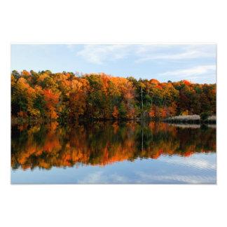 Esplendor bajo de la caída del lago impresiones fotográficas