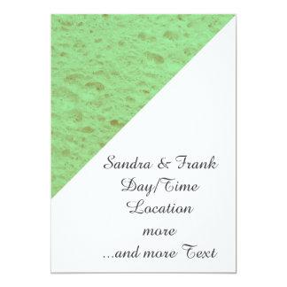 esponja, aguamarina invitación 12,7 x 17,8 cm