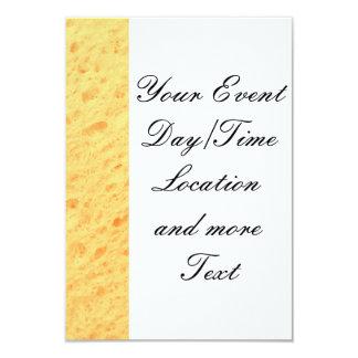 esponja, beige invitación 8,9 x 12,7 cm