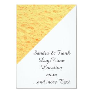 esponja, beige invitación 12,7 x 17,8 cm