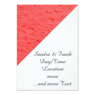 esponja, rosa invitación 12,7 x 17,8 cm
