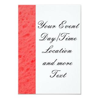 esponja, rosa invitación 8,9 x 12,7 cm
