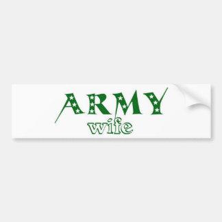 Esposa 2 del ejército pegatina para coche