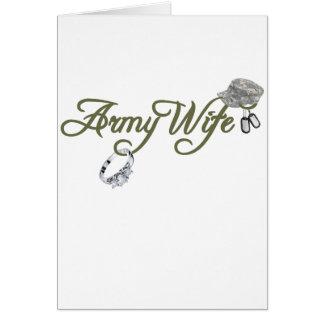 esposa-anillo del ejército, placa de identificació felicitación