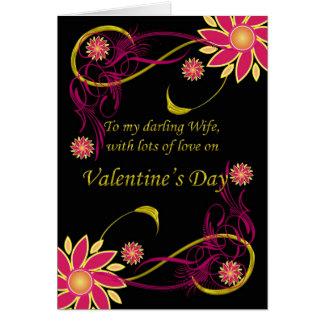 Esposa con amor el el el día de San Valentín, el Tarjeta De Felicitación