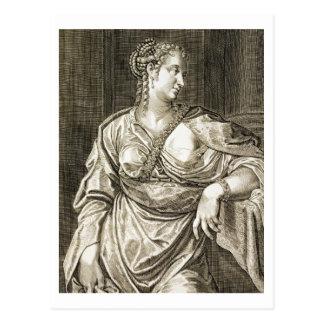 Esposa de Agrippina de Tiberius (grabado) Postal