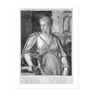 Esposa de Caesonia de Caligula (grabado) Postal
