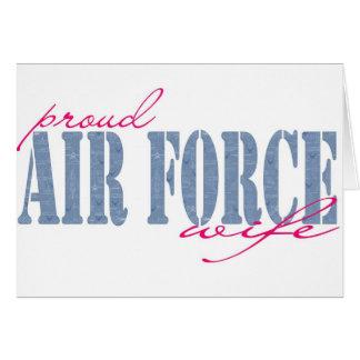 Esposa de la fuerza aérea tarjeta de felicitación