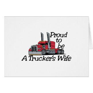 Esposa de los camioneros tarjeta de felicitación