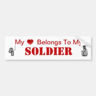 Esposa del ejército o novia del ejército pegatina para coche
