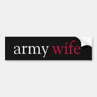 esposa del ejército pegatina para coche