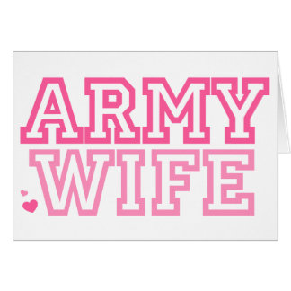 Esposa del ejército rosa tarjeta