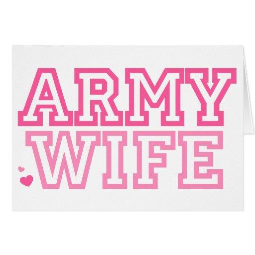 Esposa del ejército (rosa) tarjeta