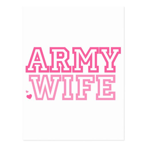 Esposa del ejército (rosa) postales