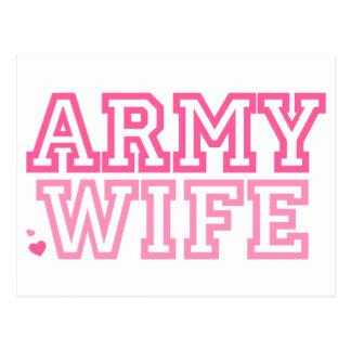 Esposa del ejército rosa tarjetas postales