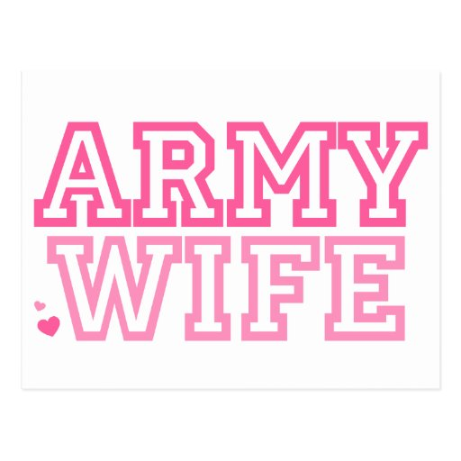 Esposa del ejército (rosa) tarjetas postales