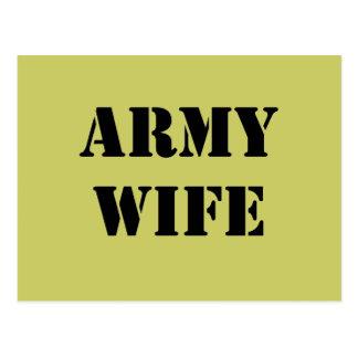 Esposa del ejército tarjetas postales