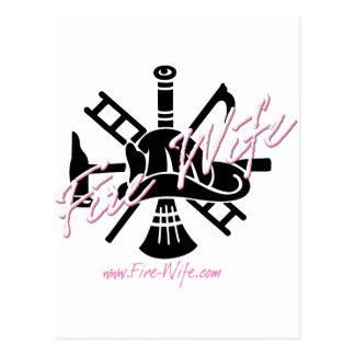 Esposa del fuego tarjeta postal