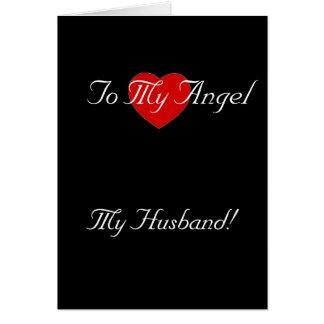 Esposa del marido del amor de la tarjeta