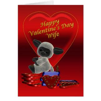 Esposa feliz del el día de San Valentín Tarjeta De Felicitación
