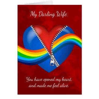 Esposa, lesbiana, tarjeta del el día de San