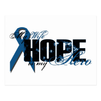 Esposa mi héroe - esperanza del cáncer de colon postal