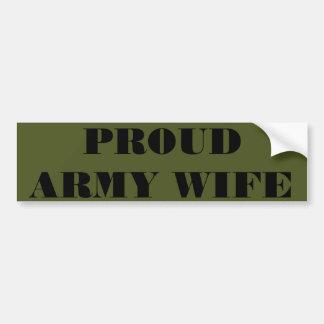 Esposa orgullosa del ejército de la pegatina para  pegatina para coche