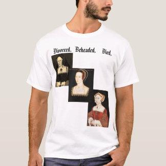 Esposas del Enrique VIII Camiseta