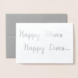 Esposas felices, boda lesbiano feliz de la tarjeta