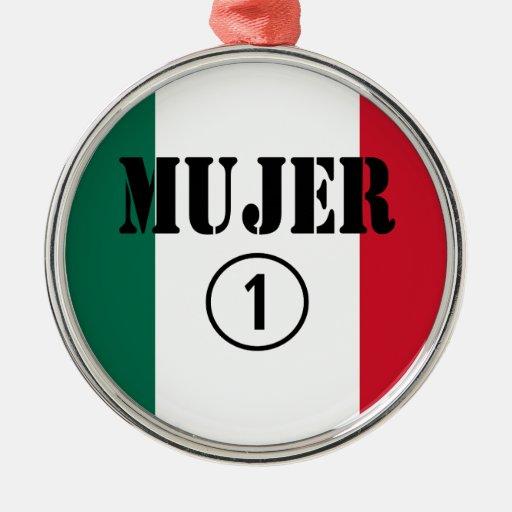 Esposas mexicanas: Uno de Mujer Numero Ornaments Para Arbol De Navidad