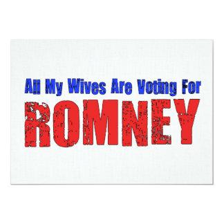 Esposas para Romney Invitación 12,7 X 17,8 Cm