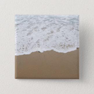 Espuma del mar, olas oceánicas chapa cuadrada