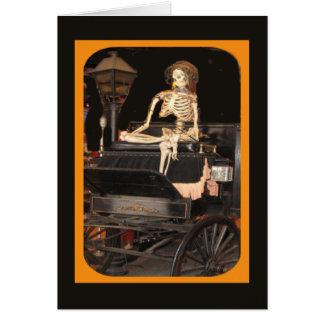 Esqueleto a bordo tarjeta de felicitación