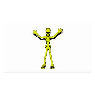 Esqueleto amarillo de Halloween Tarjetas De Visita