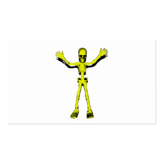 Esqueleto amarillo de Halloween Plantilla De Tarjeta Personal