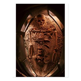 Esqueleto antiguo postal