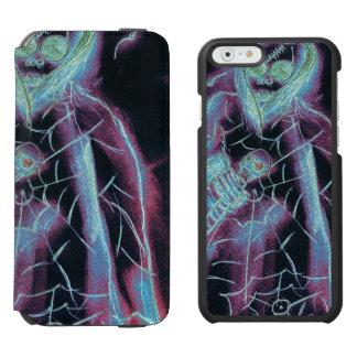 esqueleto asustadizo perfecto funda cartera para iPhone 6 watson