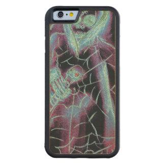 esqueleto asustadizo perfecto funda protectora de arce para iPhone 6 de carved
