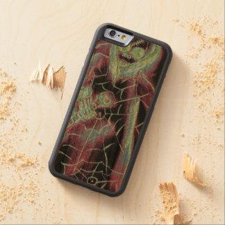 esqueleto asustadizo perfecto funda protectora de cerezo para iPhone 6 de carved