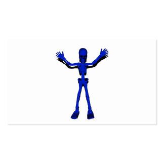 Esqueleto azul de Halloween Tarjeta Personal