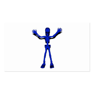 Esqueleto azul de Halloween Tarjetas De Visita