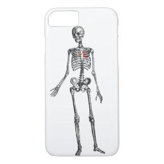 Esqueleto con la impresión gráfica del corazón funda iPhone 7