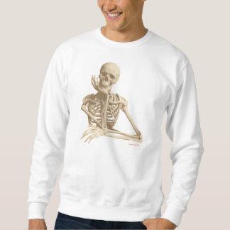Esqueleto contemplativo sudadera