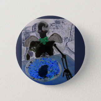 Esqueleto, cráneo, huesos, insignia del botón del