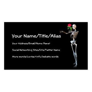 Esqueleto de Halloween con el rosa Plantilla De Tarjeta De Negocio