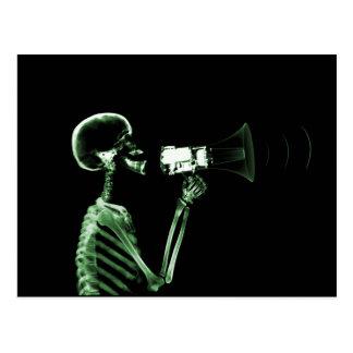 ESQUELETO DE VISION DE LA RADIOGRAFÍA EN EL POSTAL