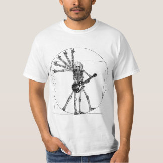 Esqueleto de Vitruvian Camisetas