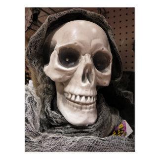 Esqueleto decorativo postal