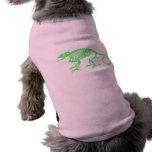 Esqueleto del camaleón camisa de perro