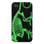 Esqueleto del camaleón iPhone 4 fundas